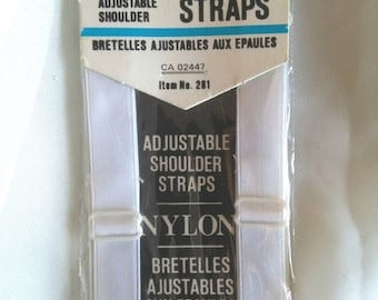 Vintage white replacement shoulder bra straps new in pkg