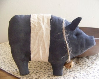 Primitive Pig Bowl Filler/Tuck Cupboard Doll