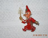 WWII Superstitious Aloysius Pin Accessocraft 1940's era Silver Alloy Red Enamel 324th squadron Bells crew 91st Bomb group