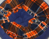 Large Fleece Machine Washable Pet Bed -Chicago Bears with Navy Accent