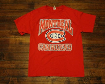 Montreal Canadiens shirt - vintage habs graphic tee tshirt NHL hockey Large