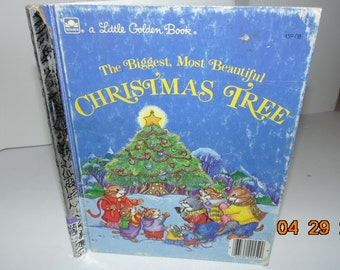 Vintage Little golden Book Biggest Most Beautiful Christmas Tree 1985