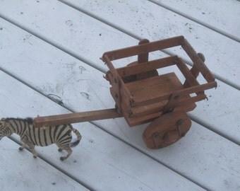 Floral Wagon , Wooden Wagon , Primitive Wagon, Table Setting, Farm Decor ,Hay Wagon