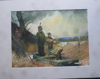 Father's Day , Hunting Watercolor Print , Roy Mason Hunting Print , FREE SHIPPING!!