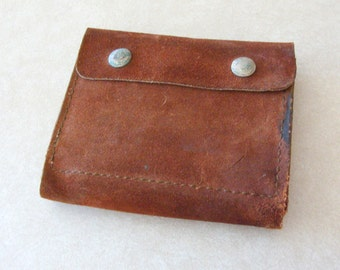 Vintage Hunter Belt Mounted Leather Ammo Pouch For Rifle, Holds 14 Possibly 30-06 Rounds