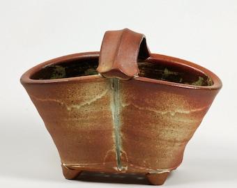 Salt Glazed Handled Basket Colander