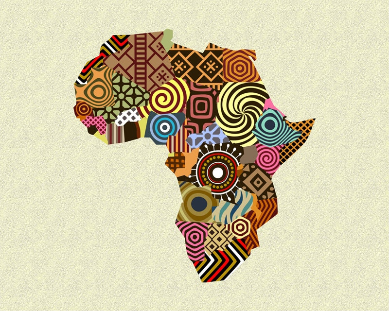 Map Art Print Wall Decor Yaound Cameroon Poster African Art