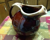 Hull Pottery ~ Brown Drip ~ Water or Juice Ball Pitcher