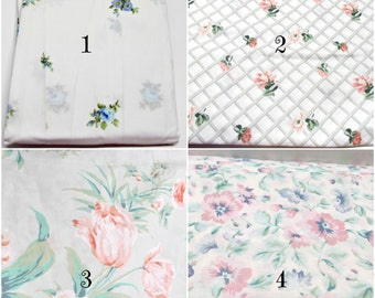 YOUR CHOICE, 2 Twin Fitted Sheets, 1 Twin Flat Sheet, 3 are NOS, Crafting Quilting Fabric, Florals, Dorm Guest Room Bedding