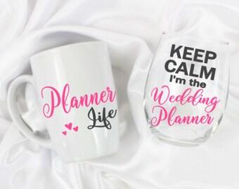 wedding planner gift - wedding planner - wedding coordinator gift - gift for wedding planner -  Gift Set of 2