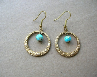 Victorian  Earrings - Victorian Style Jewelry - Victorian Style Earrings - Robins Egg Blue