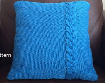PDF Pattern, How To Knit A Braided Pillow 16in x 16in