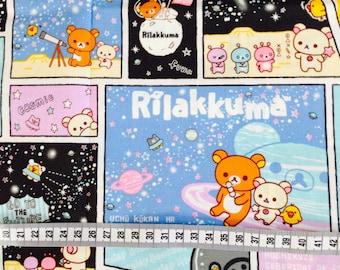 San X Rilakkuma Bear / Japanese Cartoon Fabric 110cm x 50cm