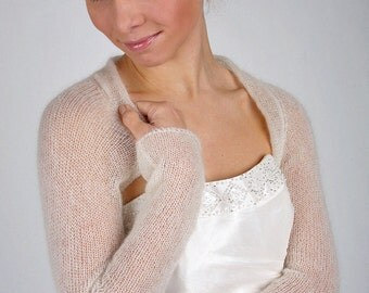 KNIT KIT bridal jacket kid mohair containing knitting instruction & wool for size S and M, 6- 12 Knit your own bridal jacket!