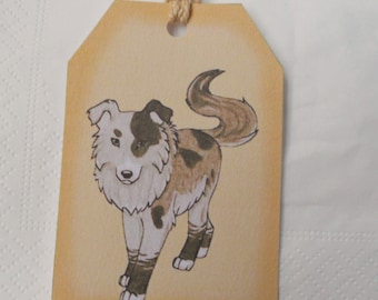 Dog gift tags - animal note - favor tags