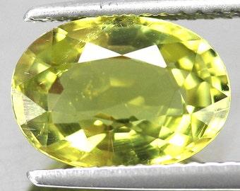 2.75 Carat Natural Yellow Tourmaline Gemstones Oval Africa Clarity VVS