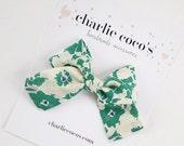 "Baby Bow Headband OR Hair Clip // Liberty of London Hair Bow ""Fiona"" by Charlie Coco's"