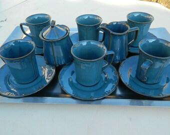 coffee set, tea set sugar bowl, milk jug