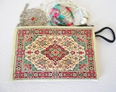 Ethnic Pouch, Exotic Fabric Pouch, Anatolian Motifs, Ethnic Coin Purse, Jewelry Purse, Zipper Pouch, Money Bag, Boho Zipper Bag, Mothers Day