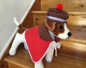 Christmas Caroler girl dog costume by FiercePetFashion