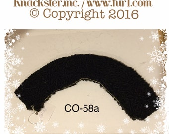 CO-58 Genuine Black Persian Lamb Fur Collar 16""