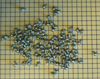 "100 - Rivet - #4 - 1/4"" - Spiral U-Drive Cadmium Rivets - Steel Rivet - Metal Rivet - Steam Punk, FREE SHIPPING -  MG-350"