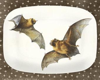 Bats I melamine platter