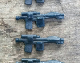 translucent green Imperial blasters Star Wars spare parts for action figures Vintage Kenner