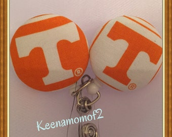 Tennessee Volunteer Badge Holder- Tennessee Volunteer ID Holder -Tennessee Retractable Badge- Tennessee Lanyard- RN- Surgical Tech-Dr