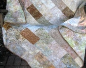 Quilt - Serenity Batik Quilt - Batik Lap Quilt - Beige and Cream Batik Quilt