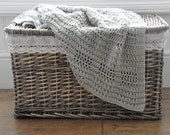 Silver Squares Blanket - Instant Download PDF Crochet Pattern