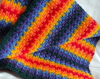 Edith's Rainbow Baby Blanket - Instant Download PDF Crochet Pattern