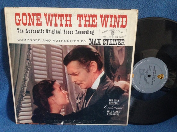 "RARE, Vintage, Gone With The Wind - ""Orignal Motion Picture Score"", Max Steiner, Vinyl LP, Record Album, Silver Screen Film, Classics"