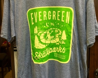 Evergreen Skateparks Alien Tee- American Apparel