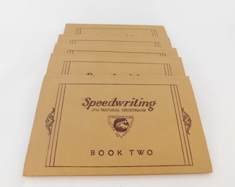 Speedwriting The Natural Shorthand, Six Volume Course 1937, Emma B Dearborn, Antique Books