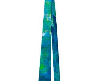 Tourqoise and Blue Abstract Art Men's Neck Tie