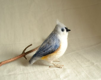 "Felt toy ""Tufted Titmouse""..... I will make this item for your order"