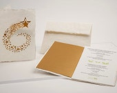 Christmas set nr. 2, 3 cards - handmade paper cards laser cut motif with paper insert and enevelope