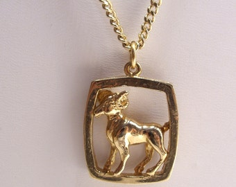 Aries Ram Zodiac Pendant Necklace March April Birthday