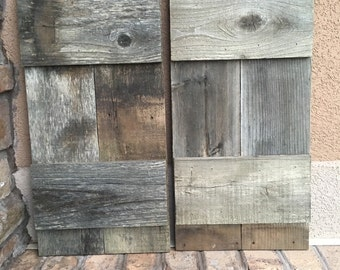 "2 Barnwood Shutters 10"" x 23"" (20"" wide combined)"