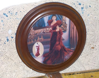 Bradford Exchange Plate w/Wood Frame-Gone with the Wind The Red  Dress 1993/New listing Not Included in Coupon Sale / :) S