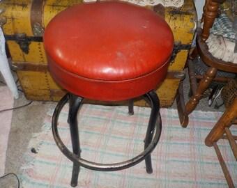 Ice Cream Stool, Vintage Nice Heavy Steel Ice Cream Stool, Bar Stool, Twirling Stool, Vintage Home Decor, Vintage Stool,