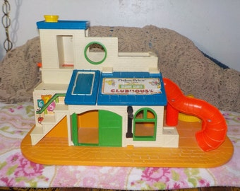 Vintage Fisher Price Sesame Street Play Family Clubhouse # 937/S Not Included in Any Coupon Discount Sales  :)S