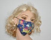 Flu Mask,Deer, Floral, Stylish face mask, flu mask, hospital, groomer gift, nature lover, organic, deer