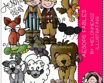 Aespos Fables clip art - COMBO PACK