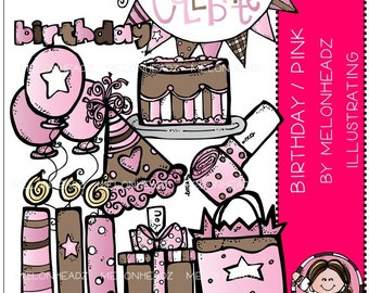 Birthday clip art (Pink) - COMBO PACK