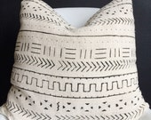 Authentic african mudcloth pillow cover
