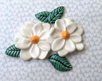 Two Lovely Magnolias w/ Leaves -  Mosaic Supply -