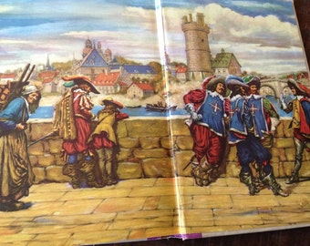 1953 Three Musketeers Book Illustrated Junior Library New York Alexandre Dumas Hardcover