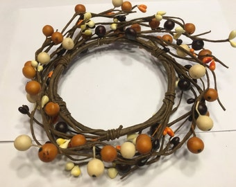 Fall tones, candle ring, 6 inch (BR75)